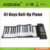 61 keys usb midi roll-up soft keyboard piano