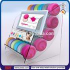 TSD-A4502 table top pomade holder/Display stand for hair wax with digital photo frame/hair wax acrylic display box