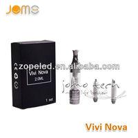 Jomo Tech Original Ecigarette exporters best 2.0ml mini ecigarette vivi nova V2 vivi nova 3.5ml electronic cigarette atomizer