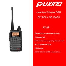 MINI ham two way radio PX-2R MINI compact radio 2W 50 CTCSS 104 DCS VOX FM radio