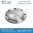 Silver white ANSI standard tapped flanges used for pipe link