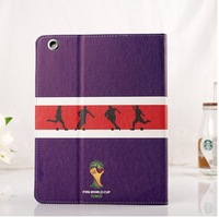promotion gifts world cup football leather case for ipad5