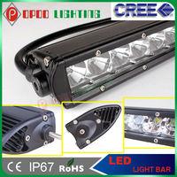 "High performance 10-30v 9800lm 20"" 100w Cree Single row led car roof rack light bar"