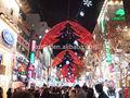 la cuerda del led de luz de la decoración de navidad led luces al aire libre
