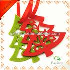 Laser cut felt decoration for christmas tree