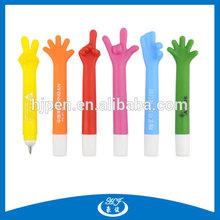 plastic material fancy stand Shape finger pen