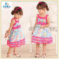 2014 wholesale newest style children IN FASHION over print DRESS