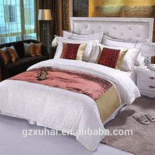 hotel golden side bed runner/bed flag NO.53