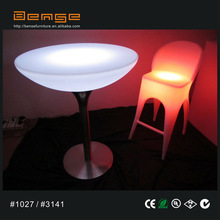 Luminous Led Coffee Table LED Furniture High Top LED bar/cocktail table