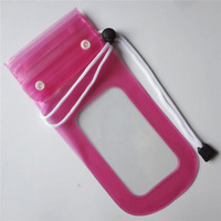 IPX8 Top Quality Pink PVC Velcro waterproof case with EN71 or non-phthalate