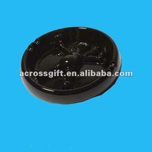 2012 excellent black ceramic ashtrays