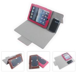 leather solar ipad case, 7watts solar tablet bag with 5000mah battery inside