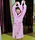 beautiful satin robe girls nightwear bathrobe with bunny ears