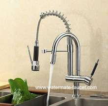 pull out spray kitchen faucet with spring