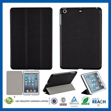 Classic Black smart cover leather case fold magnetic stand holder for ipad mini
