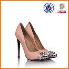 customer design pink genuine jeweled high heels for 2014 big size shoes
