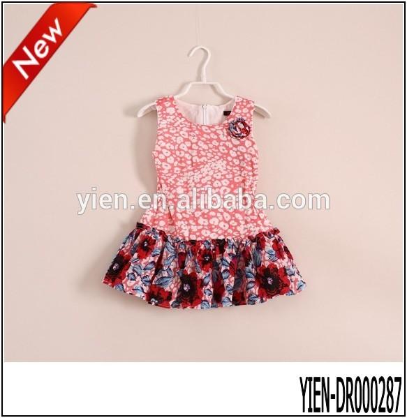 صنع في الصين متعددة الألوان زهرة فستان زواج طفل اللباس الجملة