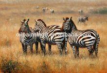 wall art sculpture zebra animal oil painting