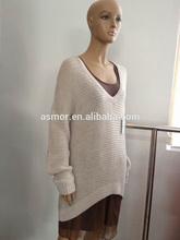 ASM-312 ladies deep V-neck long sleeves pullover