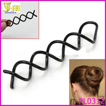 Fashion Lady Girl Set Of 10 Spiral Spin Screw Pin Beauty Magic Barrette Hair Clips Stick