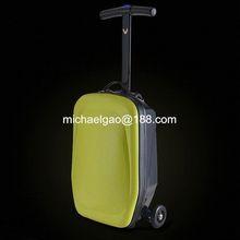 flashing roller skate/flashing wheel Travel scooter bag trolley suitcase