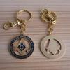 Masonic Freemasonry Metal Enamel Key Ring Fob Chain