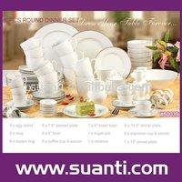 Cheap hotel use white ceramic tableware