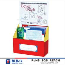 2014 Hot Sale Clear Acrylic Children's Hygiene Center for tissue box,sanitizer bottle,masks boxes