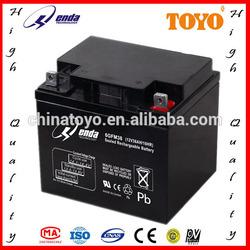 storage battery rechargeable vrla 12v 38ah battery