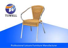 TW3034 Stackable Aluminum Garden Rattan Wicker Chair
