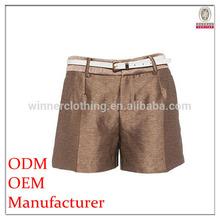 Oem factory direct high quality custom summer shorts women with waist belt