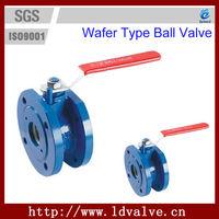 DN20 1.6Mpa DIN Standard Wafer Type Cast Iron 1 pc Ball Valve
