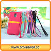 For Samsung S5 TPU Leather Case With Strap Mobile Phone Bags