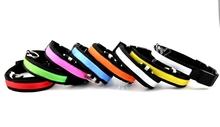colorful S/M/L/XL pet LED flashing collar various colors pet luminous collar lead