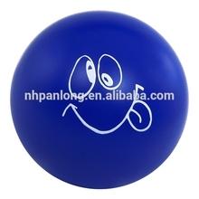 cheap stress ball supply Polyurethane 7.0cm round shape bule Goofy Stress Ball