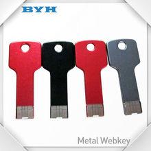 Cheapest promotional metal key style usb memory drive color print logo usb stick cheap 1gb flash drive
