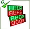 Outdoor hohe helligkeit Animation 12 zoll grün/rot 4 digitale 8889/10 führte gaspreis zeichen, wasserdicht eisen-box 40*100*4cm