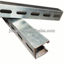 Electro galvanized strut metal framing channels