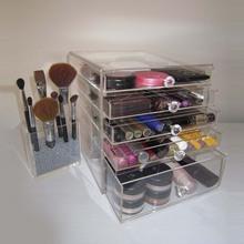 4 drawer acrylic makeup organizer