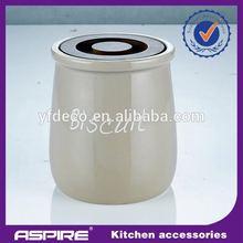 Kitchen storage ceramic clip lid jars