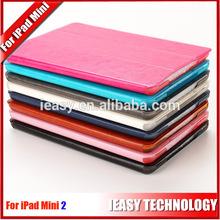 cover for ipad mini 2 retina Triplicate fold pu cover with pc holder hard case