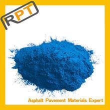 Colorful asphalt pavement in color pigment factory