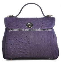 lady non brand genuine leather handbag and purse