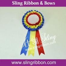 2014 New Design Satin Ribbon Badge Wholesale