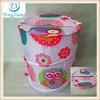 Folding laundry basket 100% polyester laundry bin pop-up hamper