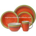 handbemalte keramik teller und schalen unterschiedlicher größe