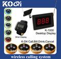 الاتصالات اللاسلكية عرض العداد مطعم k-- 1000+300+d4 أزرار خدمة الطاولة
