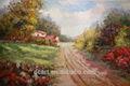 paisagem impressionista de trilha da paisagem pintura a óleo cenário