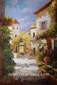 paisagem impressionista rua pintura a óleo cenário