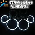 مصنع عالي الجودة 2*90mm، 2*125mm حلقة هالة ccfl عيون الملاك عصابة لشركة فولكس فاجن فولكس واجن غولف 4, 12v vw golf 4 ccfl ملاك الضوء